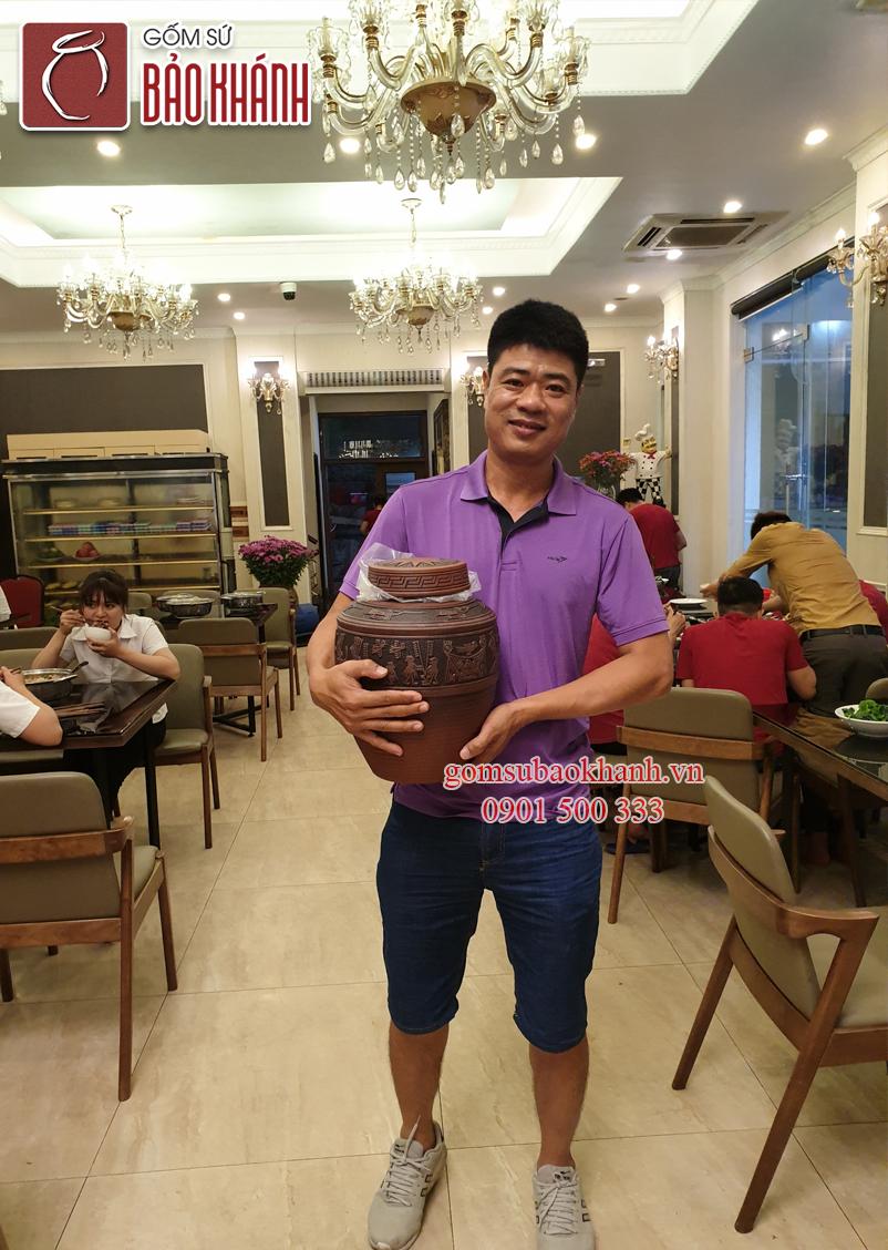Hình ảnh của khách hàng về sản phẩm chum sành Đông Sơn Âu Lạc