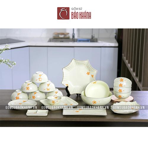 bộ bát đĩa ăn cơm gia đình đẹp