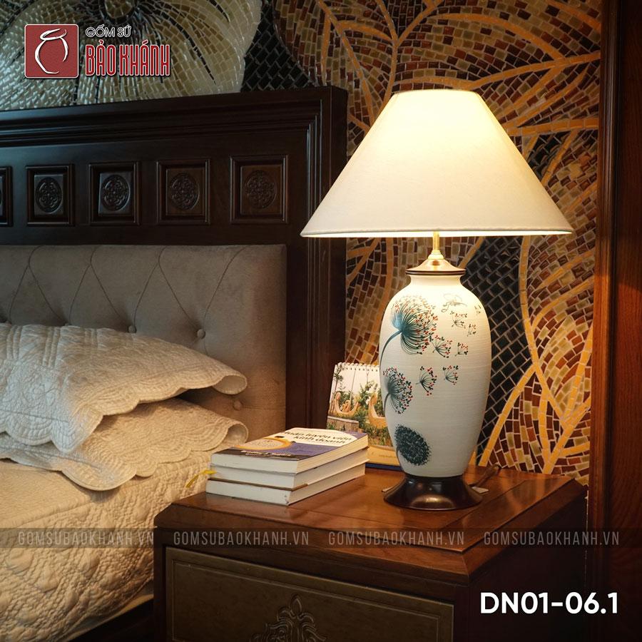 đèn ngủ để bàn gốm sứ cao cấp bát tràng