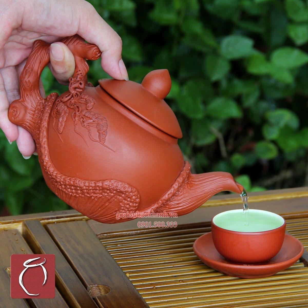 bộ cốc chén uống trà bát tràng