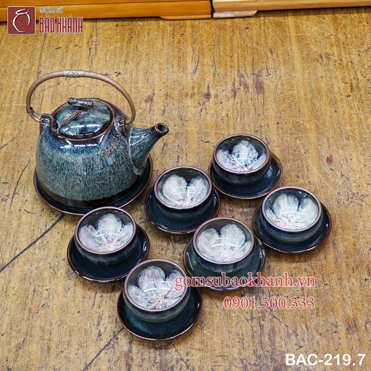 bộ trà hỏa biến bát tràng giá rẻ