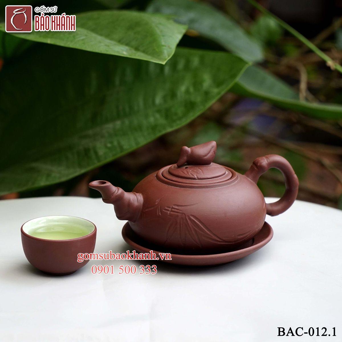 ấm trà đất tử sa chính hãng bát tràng